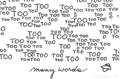 TooManyWords